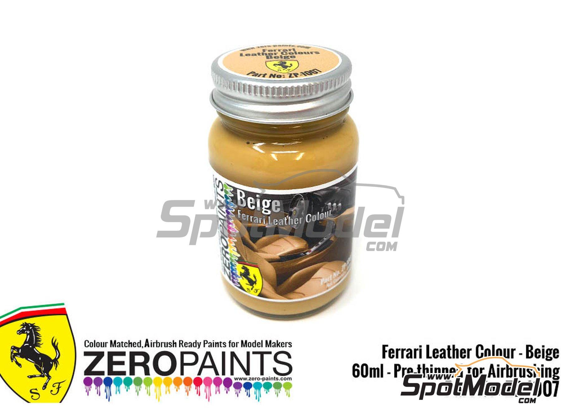 Image 1: Ferrari leather colour beige - 1 x 60ml | Paint manufactured by Zero Paints (ref.ZP-1007-7754-03)