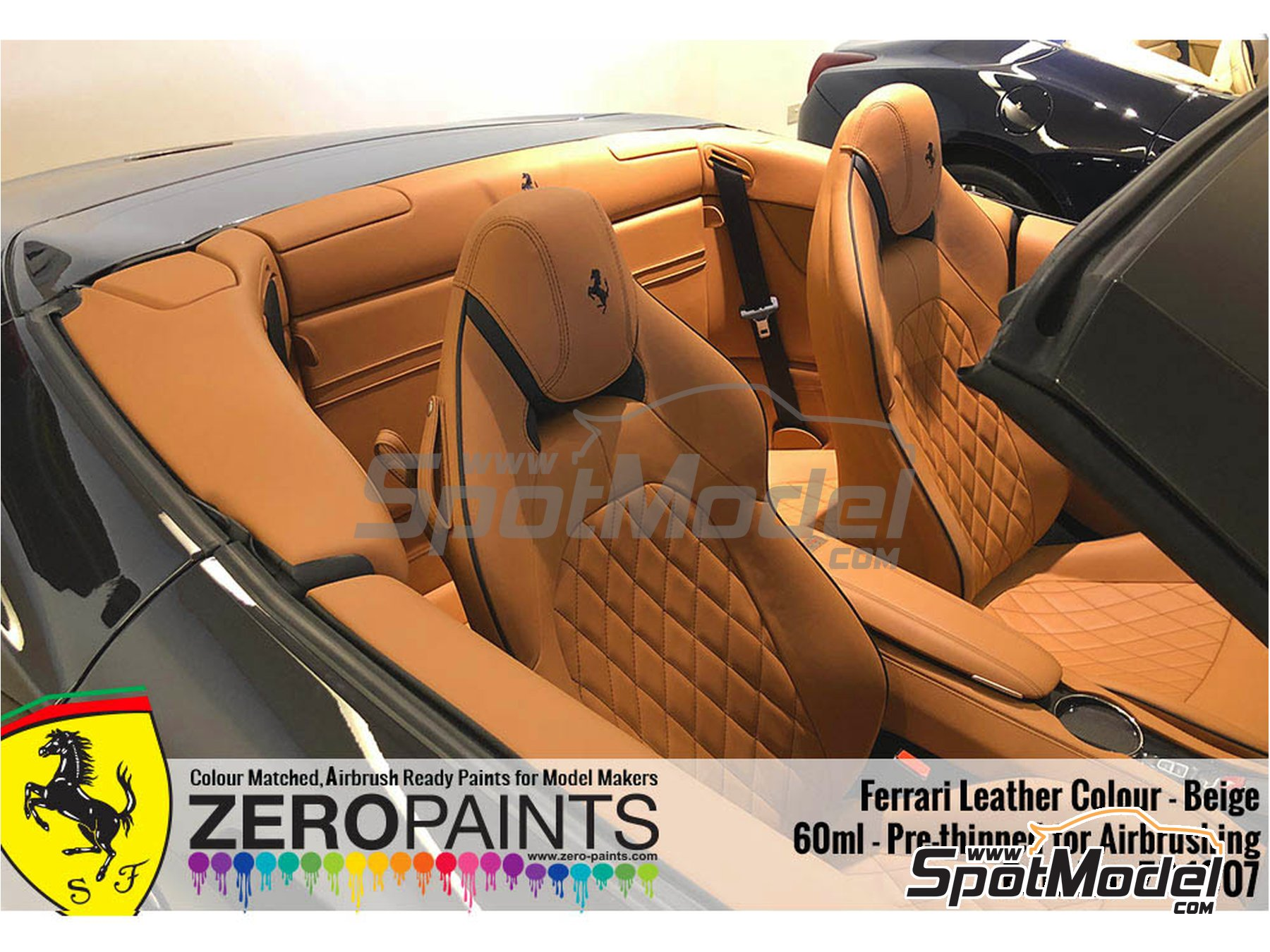 Image 2: Ferrari leather colour beige - 1 x 60ml | Paint manufactured by Zero Paints (ref.ZP-1007-7754-03)