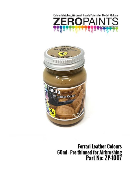 Ferrari leather colour Cuoio - 1 x 60ml | Paint manufactured by Zero Paints (ref. ZP-1007-7754-05) image