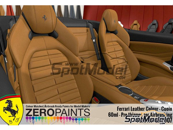 Image 2: Ferrari leather colour Cuoio - 1 x 60ml | Paint manufactured by Zero Paints (ref. ZP-1007-7754-05)