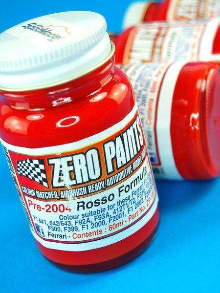 Rojo Ferrari F1 pre-2004 - Ferrari Rosso Formula1 Pre-2004 - 1 x 60ml   Pintura fabricado por Zero Paints (ref.ZP-1007-PRE-2004) image