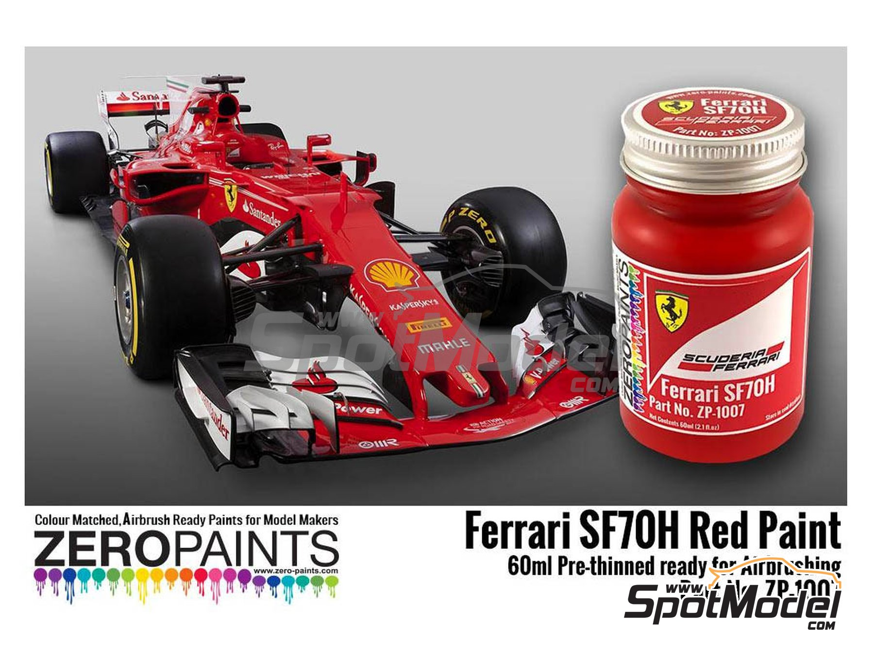 Image 1: Ferrari SF70H red | Paint manufactured by Zero Paints (ref. ZP-1007-SF70H)