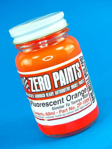 Naranja fluorescente - Fluorescent Orange -  Similar a TS-96 - 1 x 60ml | Pintura fabricado por Zero Paints (ref.ZP-1009) image