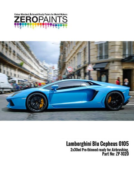 Lamborghini Blu Cepheus blue - Blue Xirallic | Paint manufactured by Zero Paints (ref. ZP-1020-0105) image