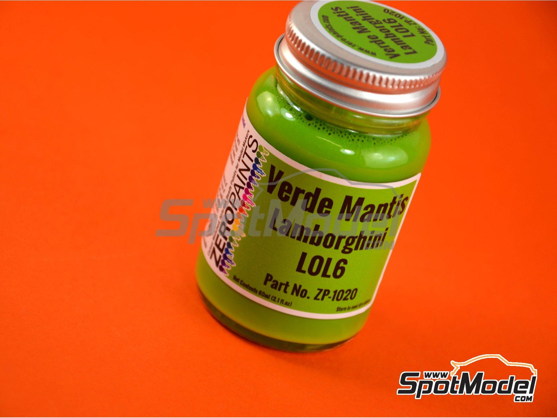 Image 1: Verde Mantis Lamborghini Huracan - Código: L0L6 - 1 x 60ml | Pintura fabricado por Zero Paints (ref.ZP-1020-L0L6)