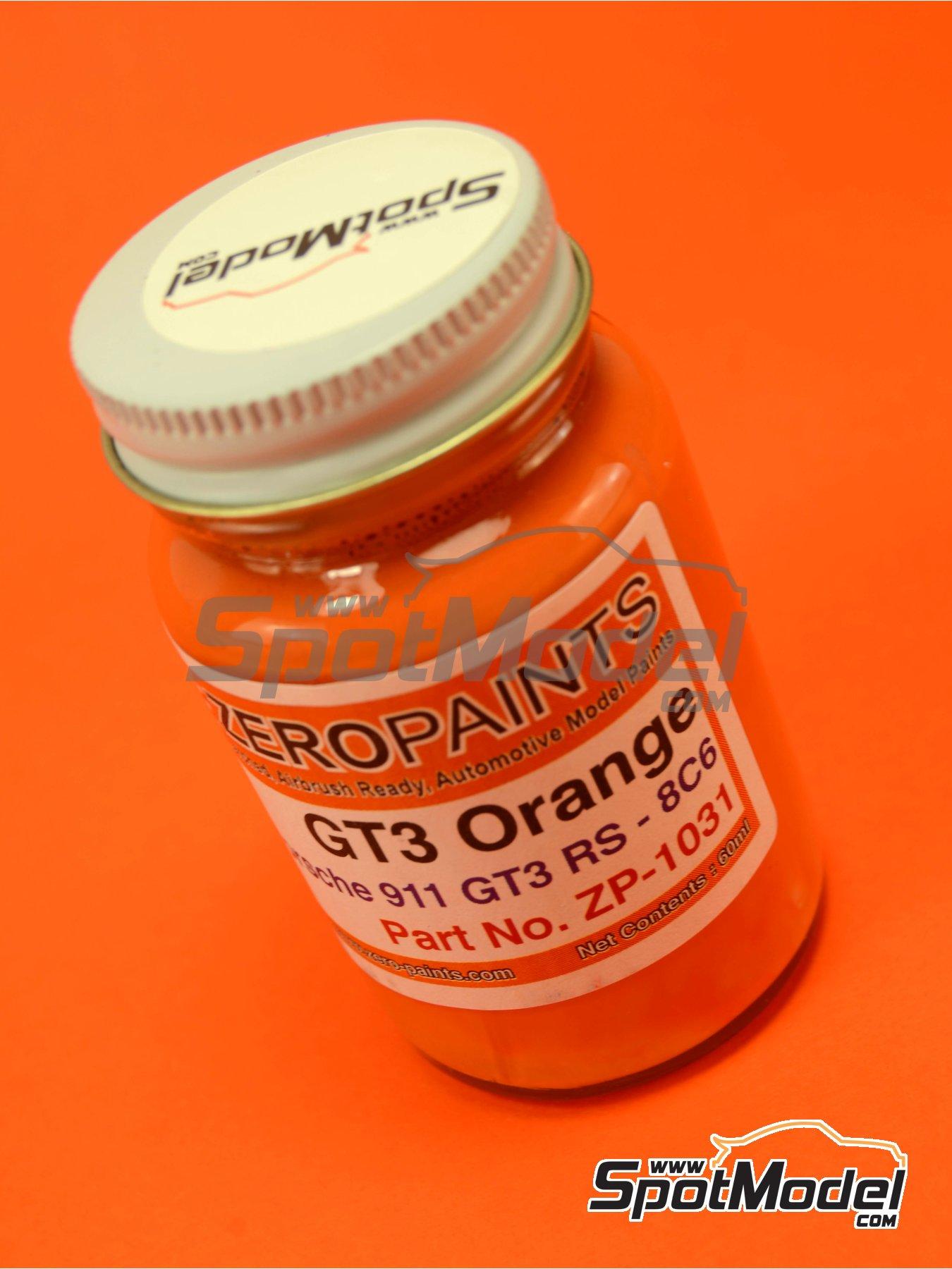 Naranja Porsche Orange GT3 RS Solid - Code: 8C6 - 1 x 60ml | Pintura fabricado por Zero Paints (ref.ZP-1031-8C6) image