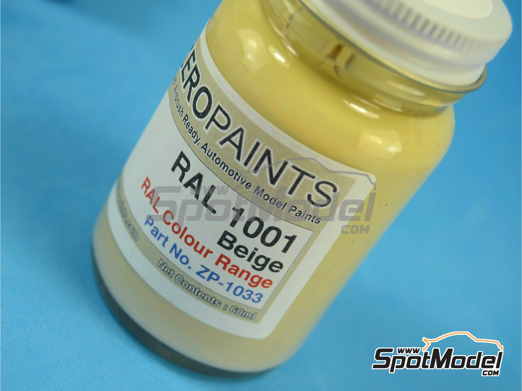 Image 1: RAL1001 - Beige - 1 x 60ml | Paint manufactured by Zero Paints (ref.ZP-1033-RAL1001)