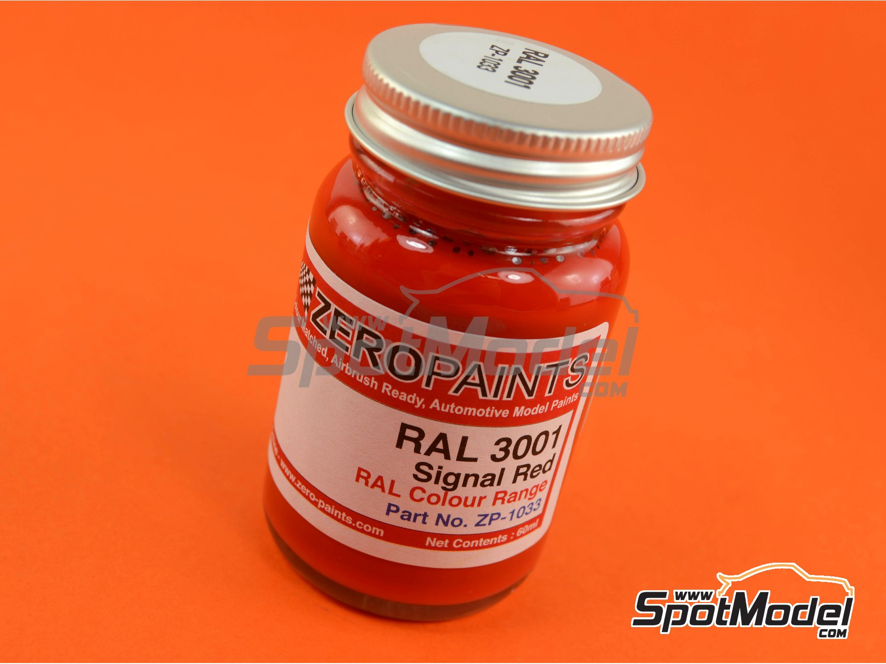 Image 1: RAL3001 - Signal red - 1 x 60ml   Paint manufactured by Zero Paints (ref.ZP-1033-RAL3001)