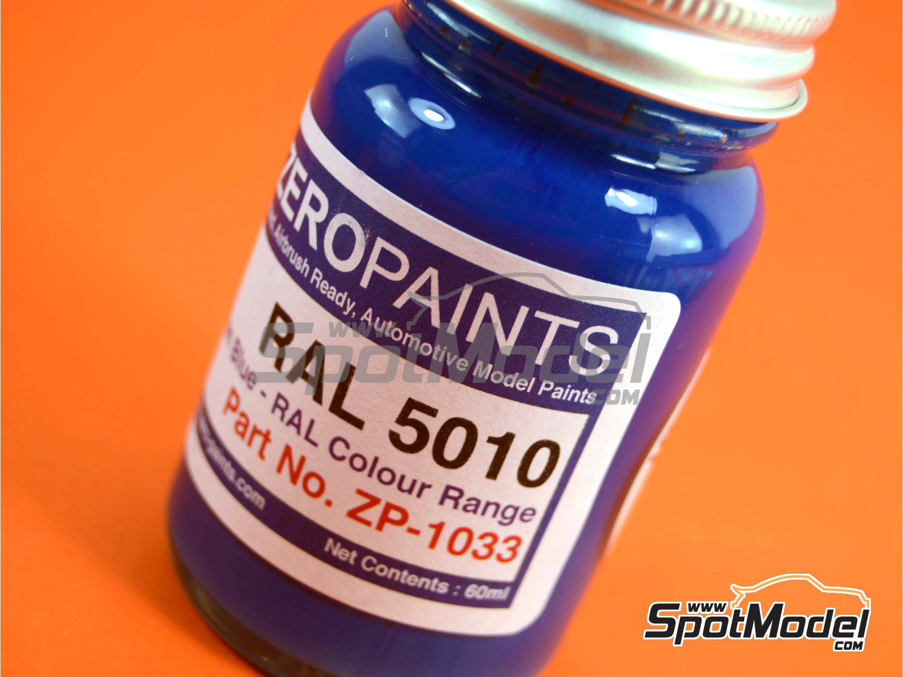 Image 1: RAL5010 - Gentian blue - 1 x 60ml | Paint manufactured by Zero Paints (ref.ZP-1033-RAL5010)