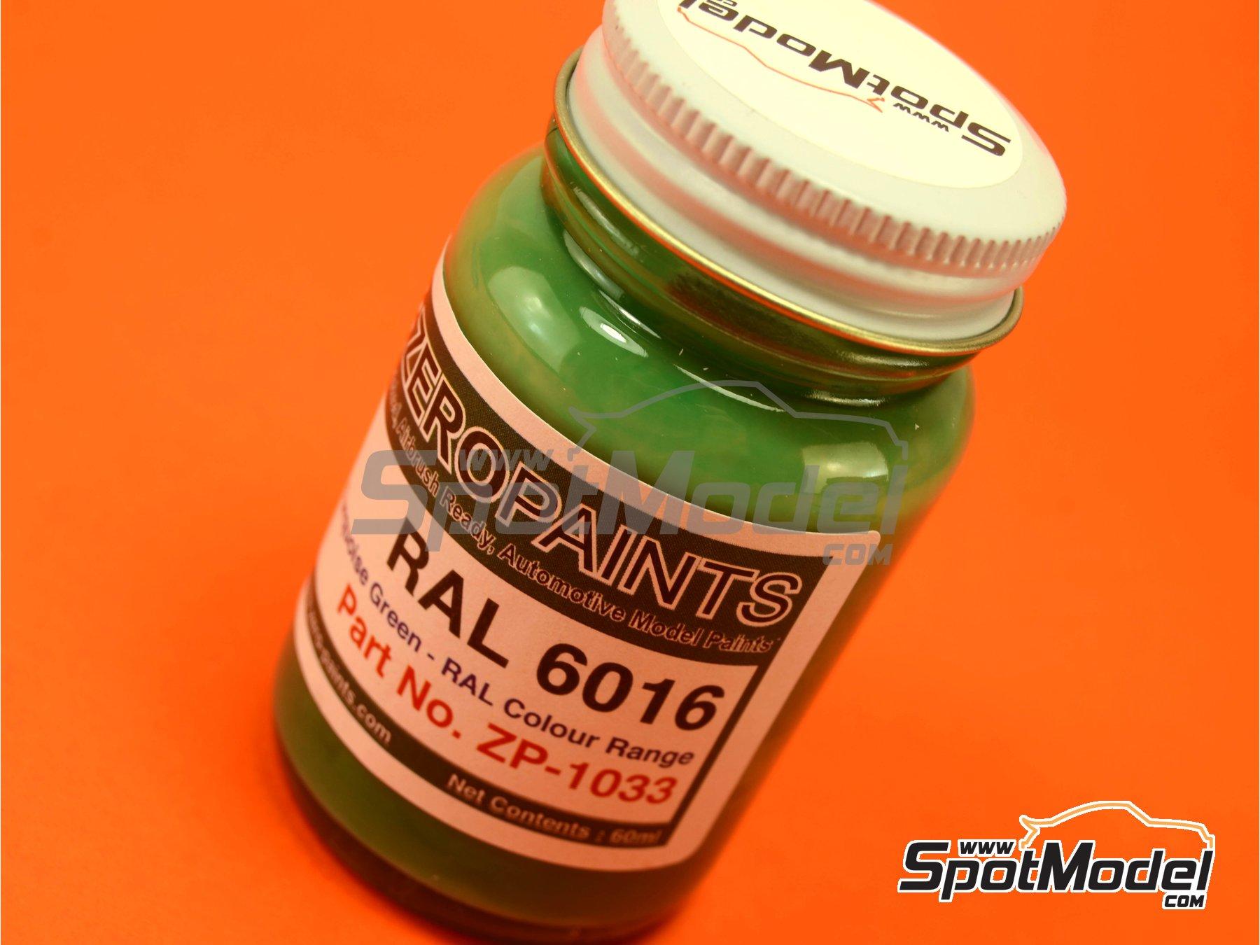 Image 1: Verde turquesa - RAL6016 - Turquoise green - 1 x 60ml | Pintura fabricado por Zero Paints (ref.ZP-1033-RAL6016)