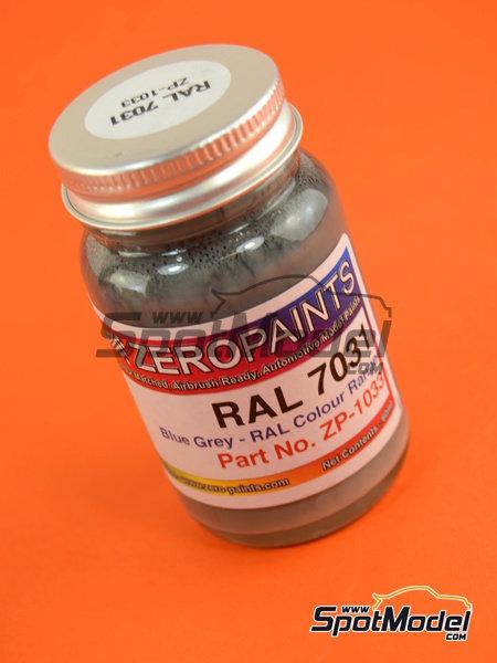 Gris azulado - RAL7031 - Blue grey - 1 x 60ml | Pintura fabricado por Zero Paints (ref.ZP-1033-RAL7031) image