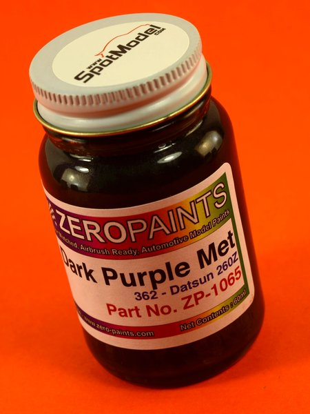 Purpura metalizado oscuro Nissan - Nissan Datsun 260Z and 280Z  Dark Purple Metallic  - Code: 362 - 1 x 60ml | Pintura fabricado por Zero Paints (ref.ZP-1065-362) image
