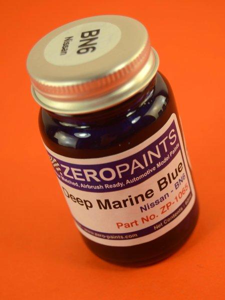 Azul Marina Perlado Nissan - Nissan Deep Marine Blue Pearl  - Code: BN6 - 1 x 60ml | Pintura fabricado por Zero Paints (ref.ZP-1065-BN6) image