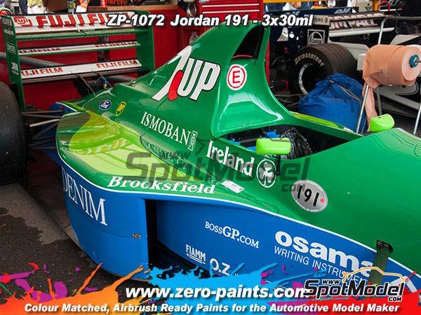 Image 2: Jordan 191 - Verde claro + azul + verde oscuro - 3 x 30ml | Set de pinturas fabricado por Zero Paints (ref.ZP-1072)