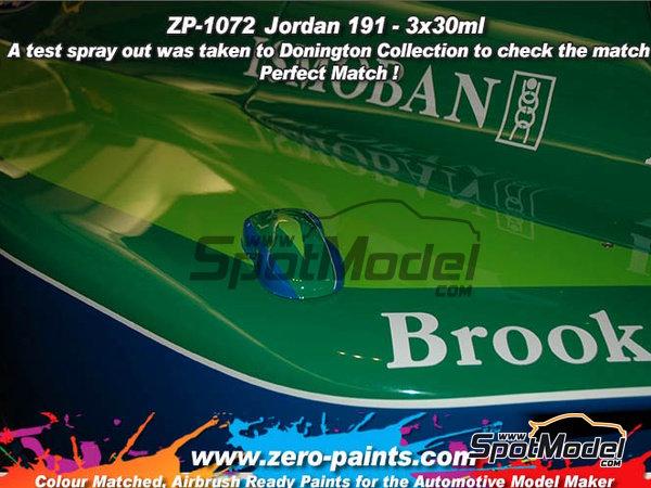 Image 3: Jordan 191 - Verde claro + azul + verde oscuro - 3 x 30ml | Set de pinturas fabricado por Zero Paints (ref.ZP-1072)