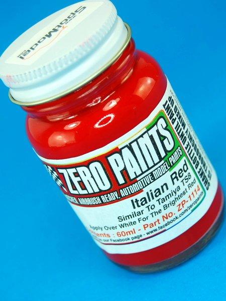 Rojo italiano - Italian Red Paint - Similar to TS-8 - 1 x 60ml | Pintura fabricado por Zero Paints (ref.ZP-1114) image