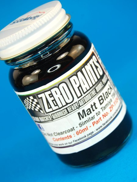 Negro mate - Matt black - 1 x 60ml | Pintura fabricado por Zero Paints (ref.ZP-1124) image