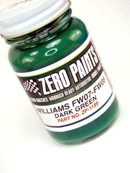 Williams FW07-FW08 Green - 1 x 60ml | Paint manufactured by Zero Paints (ref. ZP-1189) image