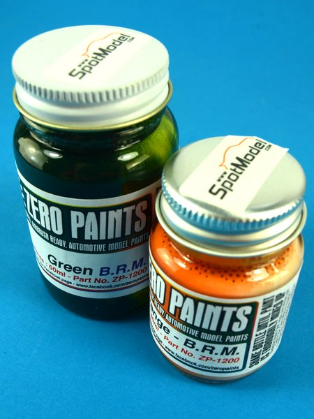 BRM - Racing Green + Orange - 1 x 30ml + 1 x 60ml | Paints set manufactured by Zero Paints (ref.ZP-1200) image