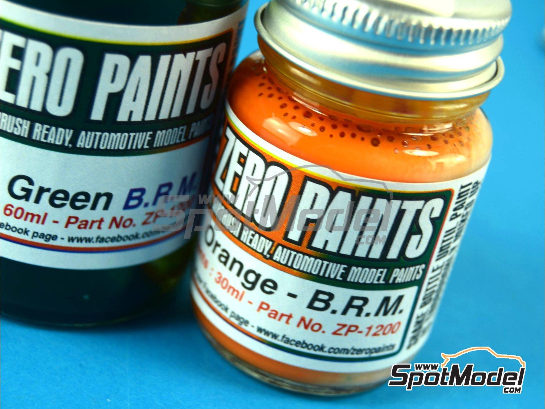 Image 2: Verde + Naranja BRM Racing Green + Orange - 1 x 30ml + 1 x 60ml | Set de pinturas fabricado por Zero Paints (ref.ZP-1200)