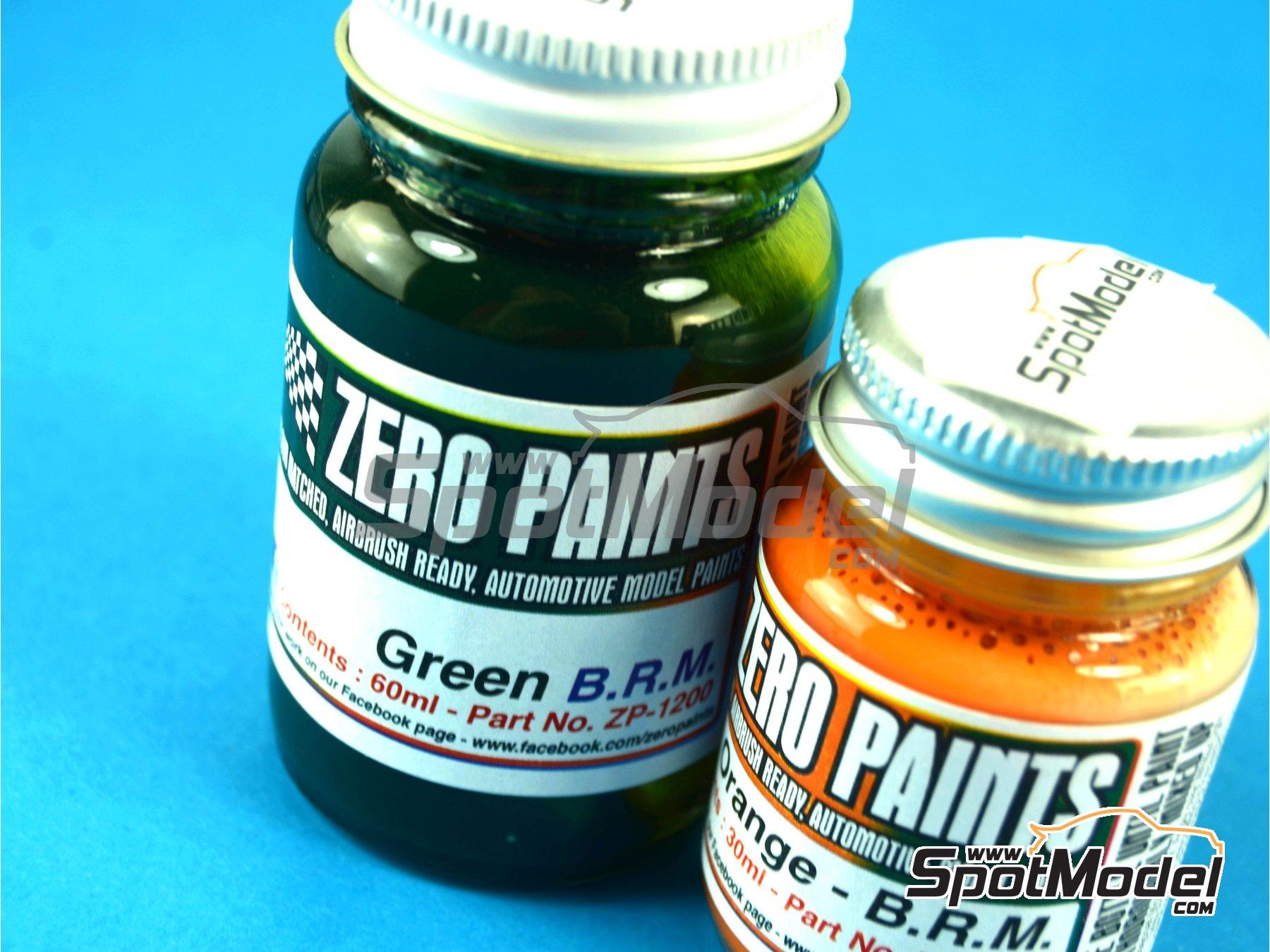 Image 3: BRM - Racing Green + Orange - 1 x 30ml + 1 x 60ml | Paints set manufactured by Zero Paints (ref.ZP-1200)