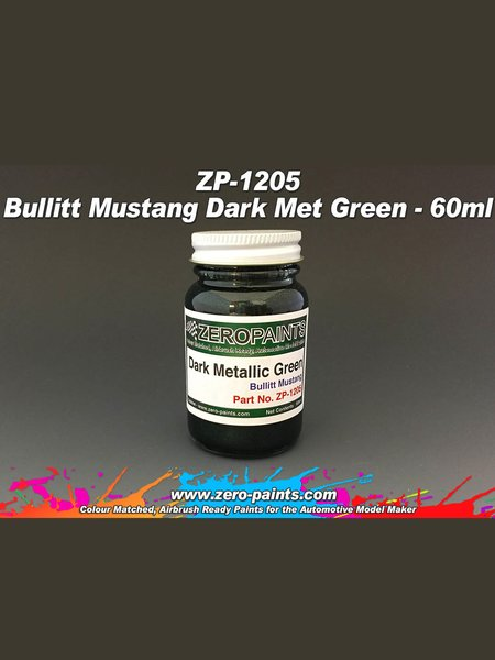 Bullit Mustang Dark Met Green - 1 x 60ml   Paint manufactured by Zero Paints (ref.ZP-1205) image