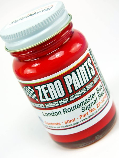 London Routemaster Bus - Signal Red - 1 x 60ml | Paint manufactured by Zero Paints (ref.ZP-1216) image
