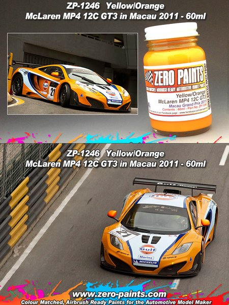 McLaren MP4 12C GT3 Macau -  2011 - 1 x 60ml | Paint manufactured by Zero Paints (ref.ZP-1246) image