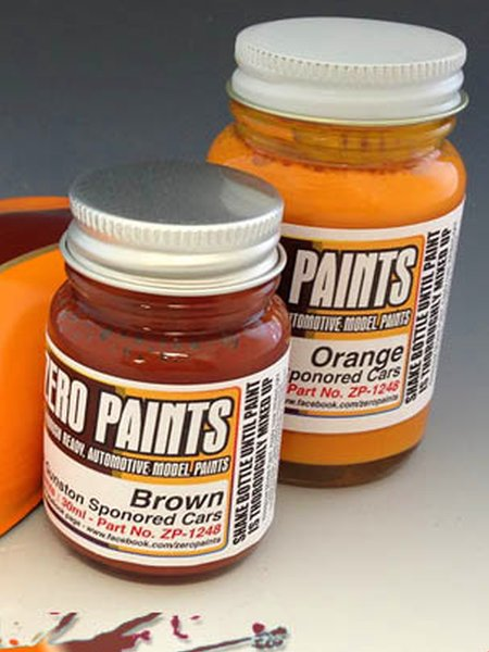 Team Gunston orange + brown - 2 x 30ml | Paints set manufactured by Zero Paints (ref. ZP-1248) image