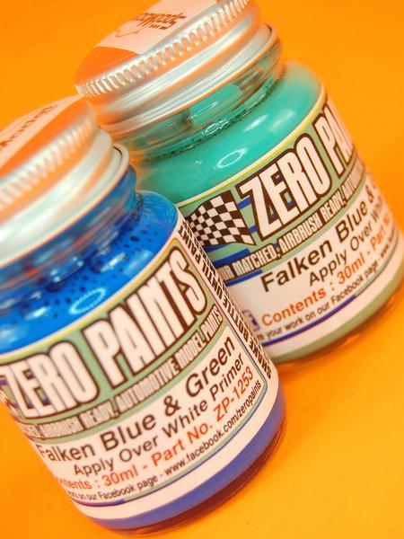 Azul y verde - Equipo Falken Motorsports - Green and Blue paints - 2 x 30ml | Set de pinturas fabricado por Zero Paints (ref.ZP-1253) image