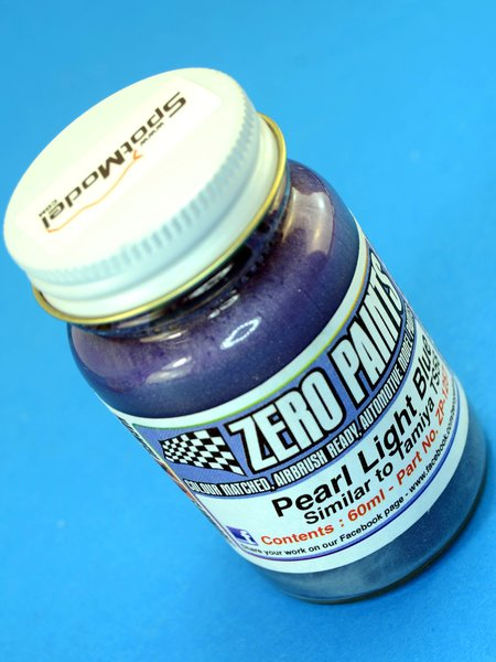 Pearl Light Blue - Similar to Tamiya TS-58 - 1 x 60ml   Paint manufactured by Zero Paints (ref.ZP-1257) image