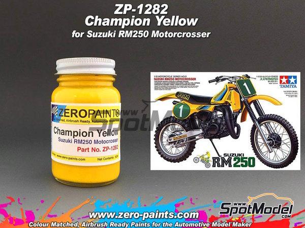 Image 1: Amarillo Suzuki Champion RM250 - 1 x 60ml | Pintura fabricado por Zero Paints (ref.ZP-1282)
