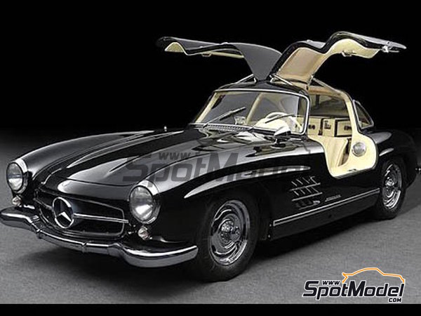 Image 1: Black Schwarz for Mercedes-Benz 300SL - Code: DB040 - 1 x 60ml | Paint manufactured by Zero Paints (ref. ZP-1296-DB040)