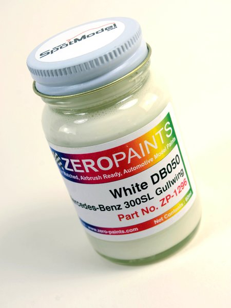White Weiss for Mercedes-Benz 300SL - Code: DB050 - 1 x 60ml | Paint manufactured by Zero Paints (ref. ZP-1296-DB050) image