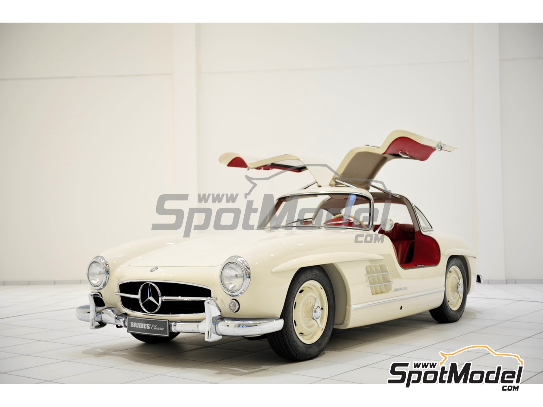 Image 3: White Weiss for Mercedes-Benz 300SL - Code: DB050 - 1 x 60ml | Paint manufactured by Zero Paints (ref. ZP-1296-DB050)