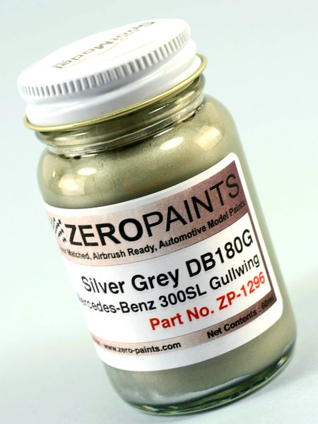 Silver Grey Paint for Mercedes-Benz 300SL - DB180G - 1 x 60ml   Paint manufactured by Zero Paints (ref.ZP-1296-DB180G) image