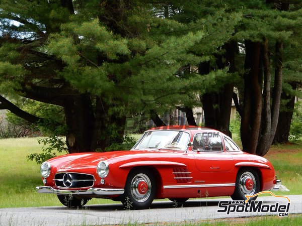 Image 2: Fire Engine Red Feuerwehrrot for Mercedes-Benz 300SL - Year 1955 - Code: DB534 - 1 x 60ml   Paint manufactured by Zero Paints (ref.ZP-1296-DB534)