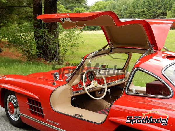 Image 3: Fire Engine Red Feuerwehrrot for Mercedes-Benz 300SL - Year 1955 - Code: DB534 - 1 x 60ml   Paint manufactured by Zero Paints (ref.ZP-1296-DB534)