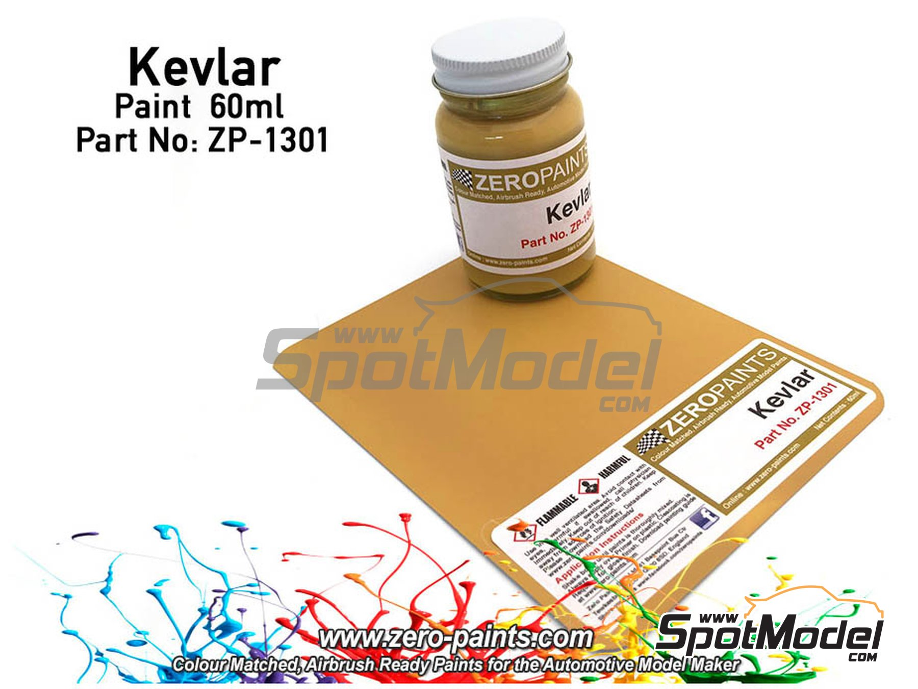 Image 1: Kevlar - 1 x 60ml   Paint manufactured by Zero Paints (ref.ZP-1301)