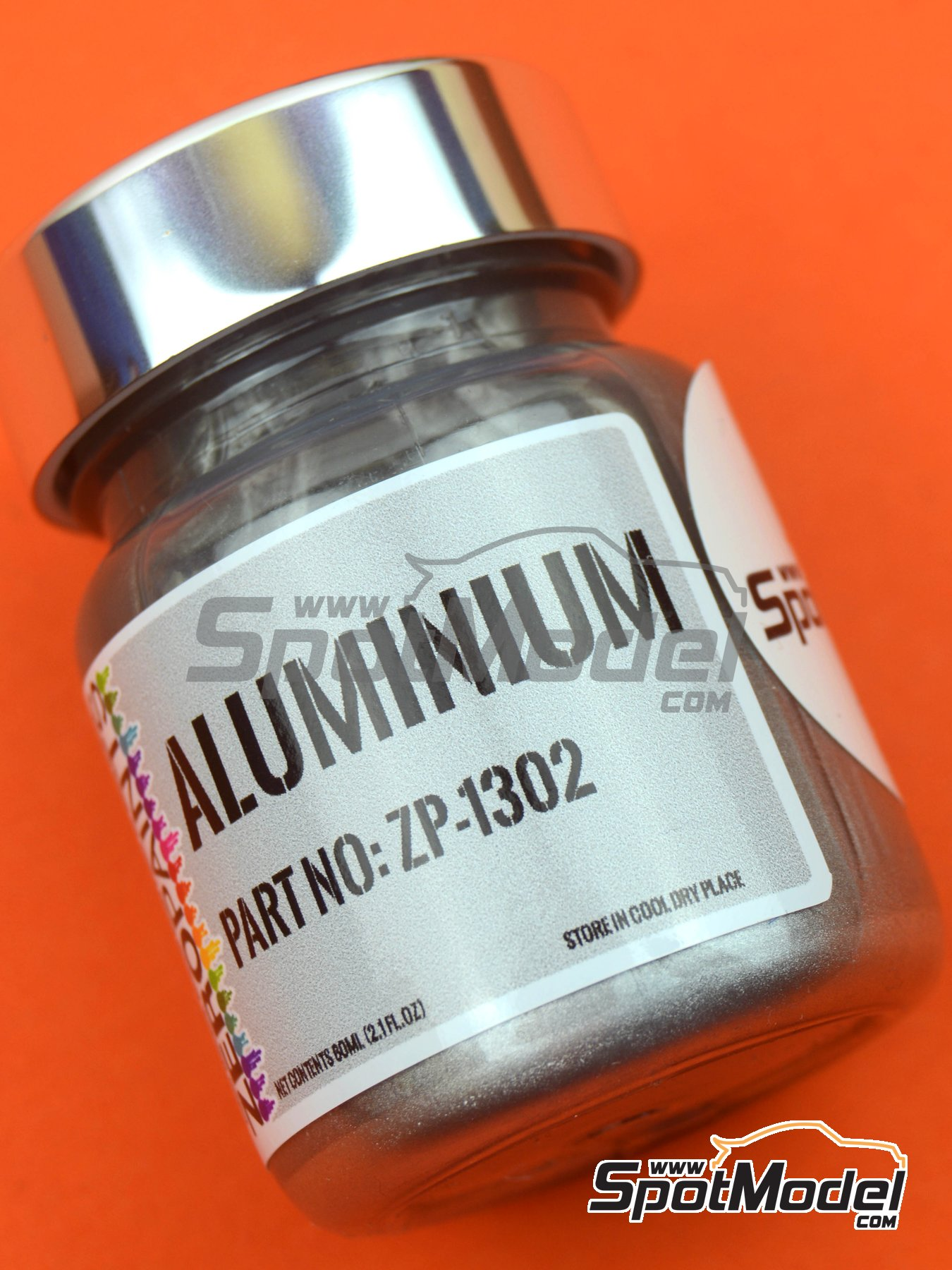 Aluminium - 1 x 60ml | Paint manufactured by Zero Paints (ref. ZP-1302) image