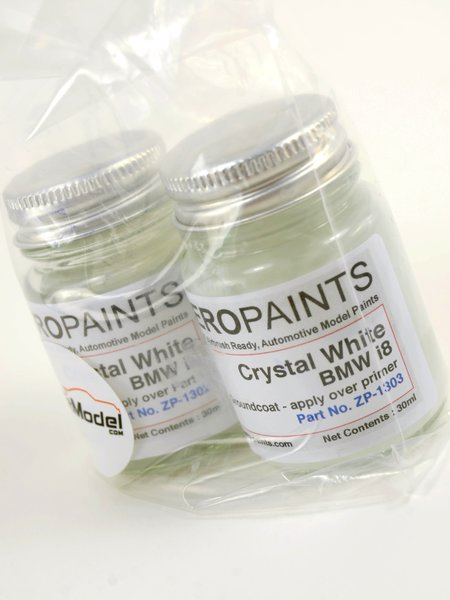 Crystal White for BMW i8 - 2 x 30ml | Paint manufactured by Zero Paints (ref. ZP-1303-CRYSTAL) image