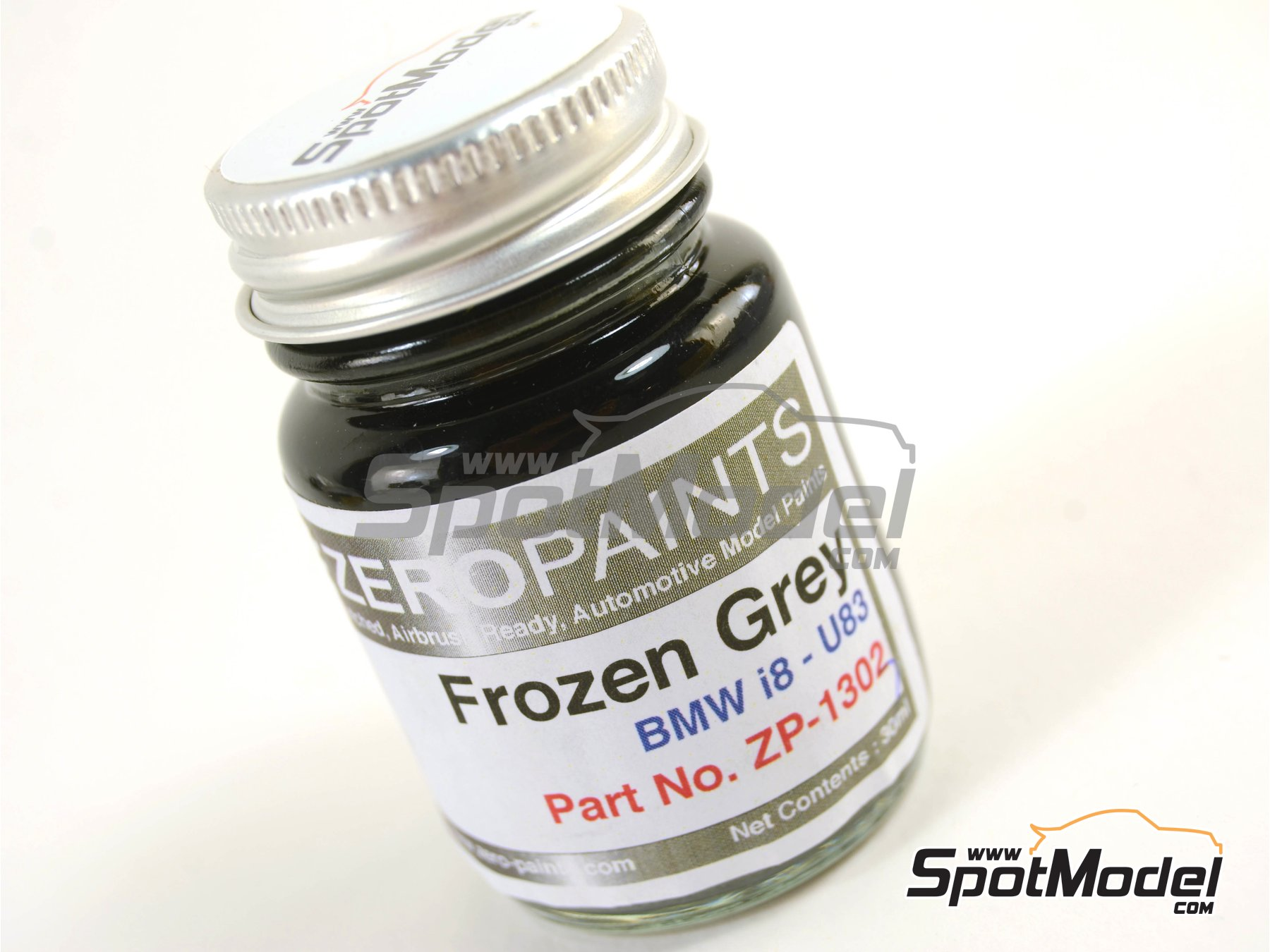 Image 1: Frozen Metallic Grey for BMW i8 - 1 x 30ml | Paint manufactured by Zero Paints (ref. ZP-1303-U83)