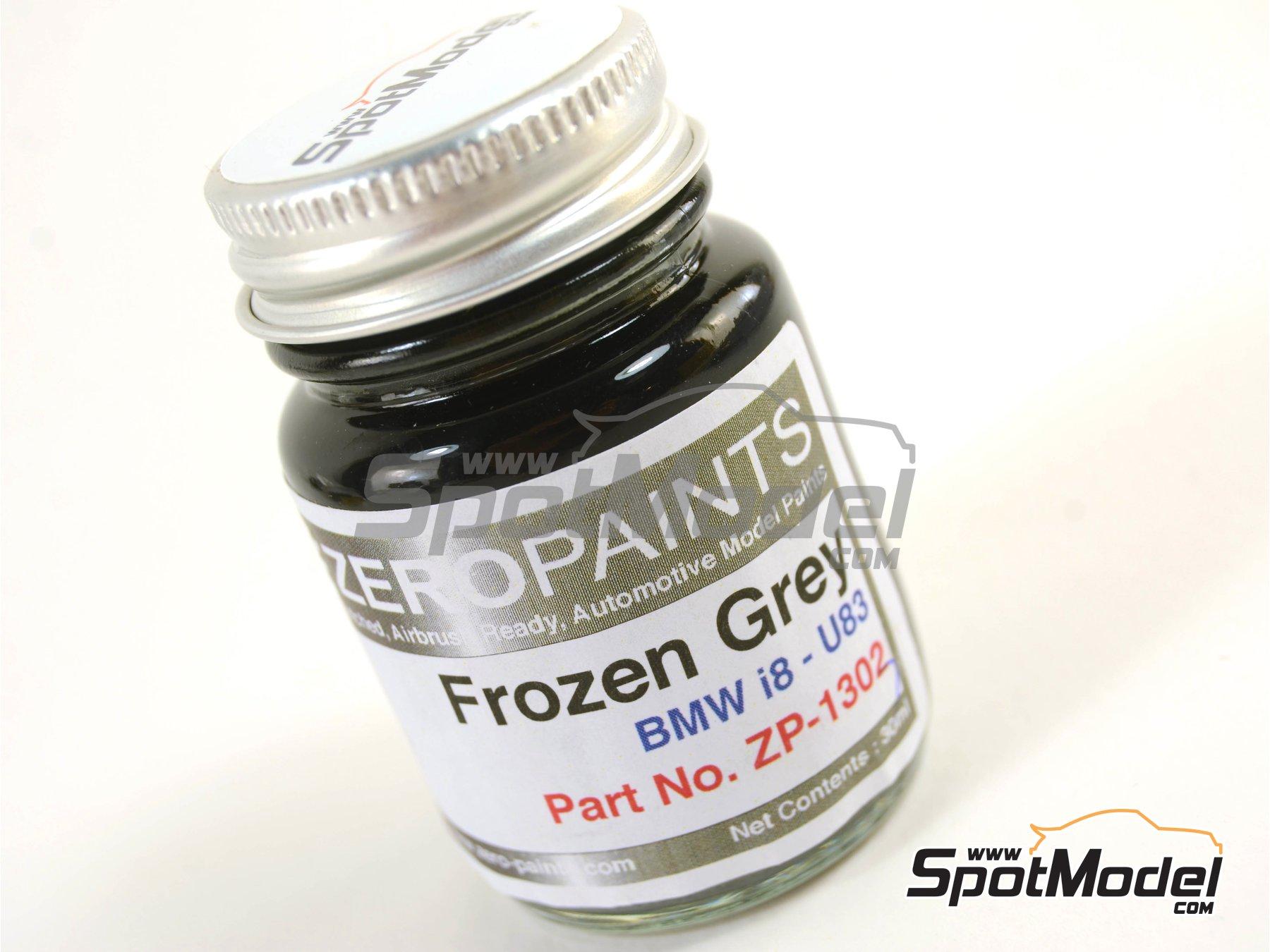 Image 1: Gris metalizado Frozen Metallic Grey para BMW i8 - 1 x 30ml | Pintura fabricado por Zero Paints (ref.ZP-1303-U83)