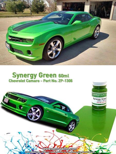 Verde Chevrolet Camaro Synergy Green - 1 x 60ml | Pintura fabricado por Zero Paints (ref.ZP-1306) image