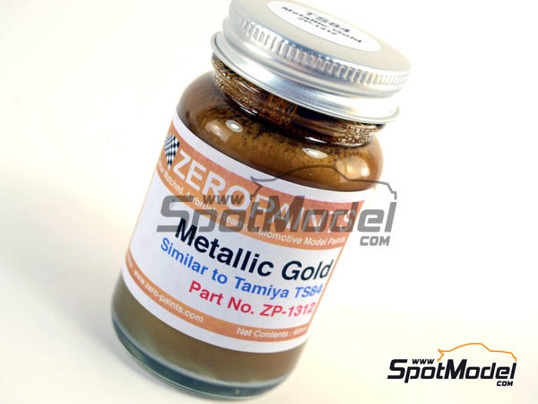 Image 1: Metallic Gold Paint - Similar to TS-84 - 1 x 60ml | Paint manufactured by Zero Paints (ref.ZP-1312)