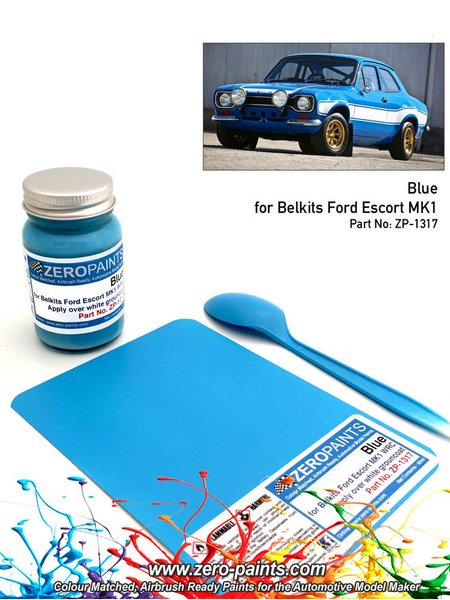 Ford Olympic Blue - 60ml - Great Britain RAC Rally 1973 | Paint manufactured by Zero Paints (ref. ZP-1317) image