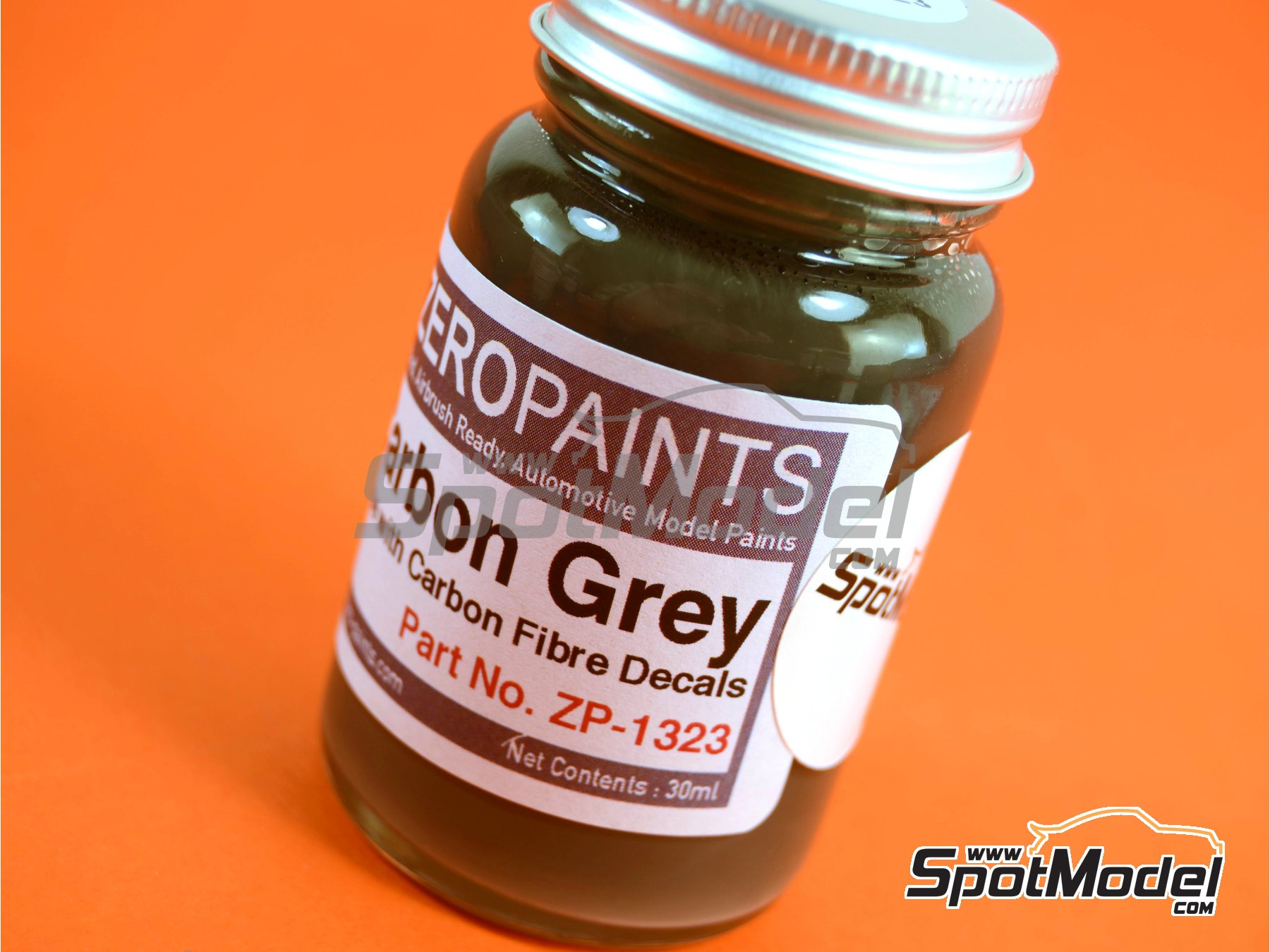 Image 4: Carbon Fibre Grey - 1 x 60ml | Paint manufactured by Zero Paints (ref.ZP-1323)