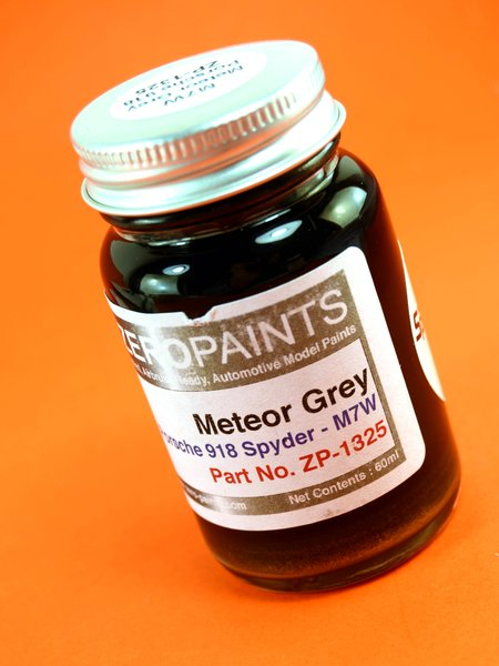 Gris Porsche Meteor Grey - Meteorgrau - 1 x 60ml | Pintura fabricado por Zero Paints (ref.ZP-1325-M7W) image