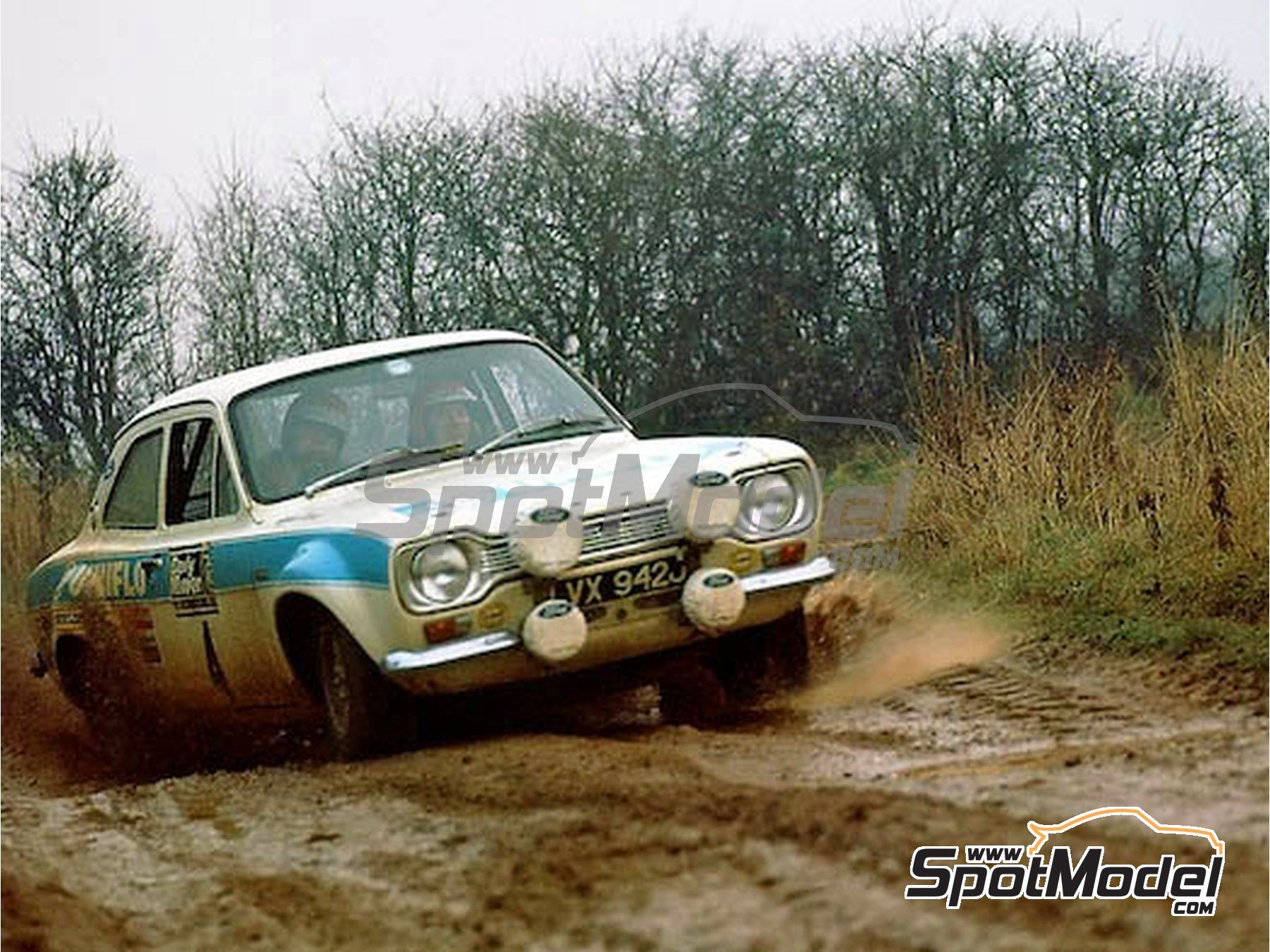 Image 2: Ford Diamond White - 60ml - Great Britain RAC Rally 1972 | Paint manufactured by Zero Paints (ref. ZP-1332)