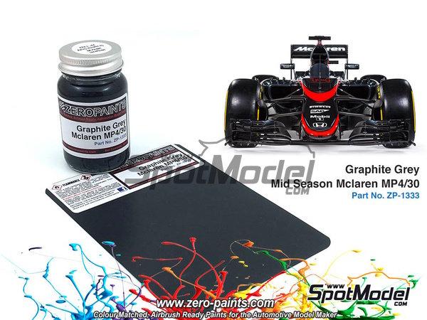 Image 1: Graphite Grey Mid Season McLaren MP4/30 - 1 x 60ml | Paint manufactured by Zero Paints (ref.ZP-1333)